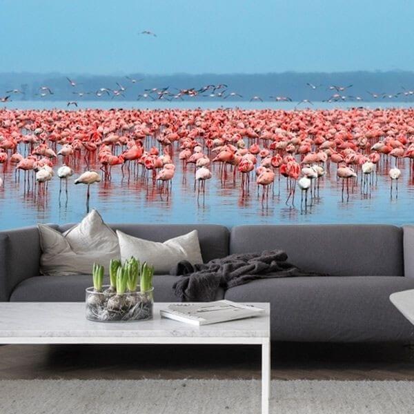 Mural de parede flamingos