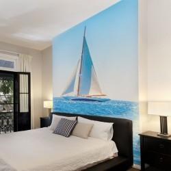Mural de parede barco á vela
