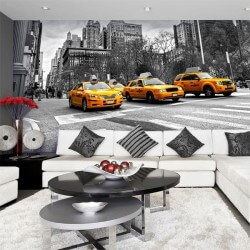 Mural taxis em New York