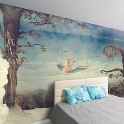 Mural passadeira de nuvens