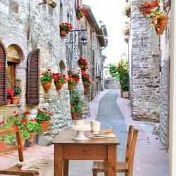 Mural de parede ruas de Itália