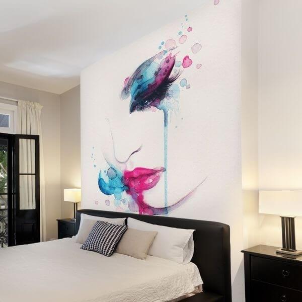 Mural de parede pintura abstrata
