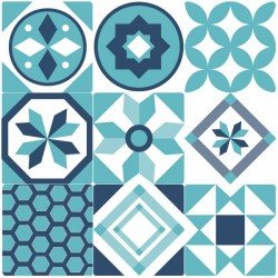 Vinil de azulejo português azul