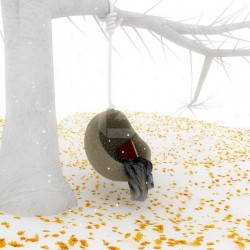 Foto mural árvore branca
