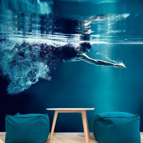 Papel pintado natação
