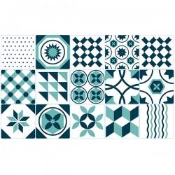 Vinil azulejo português verde