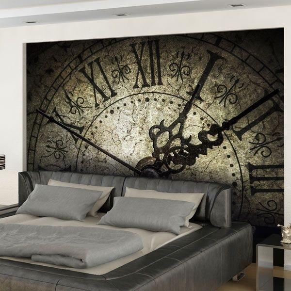 Mural de parede relógio antigo