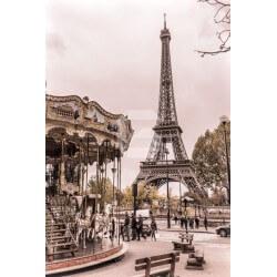 Mural carrossel em Paris