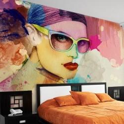 Papel pintado pintura colorida