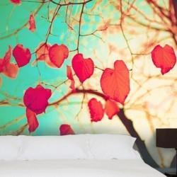 Vinil de parede folhas...