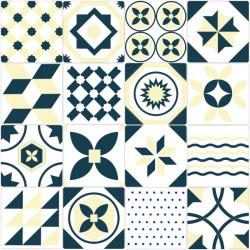 Vinil de azulejo português amarelo