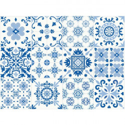 Autocolantes azulejos pintados