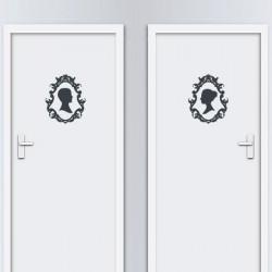 Autocolante para portas Wc