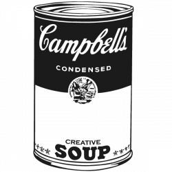 Vinil pop art Campbell s soup