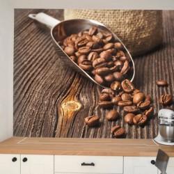 Vinil de parede café do Brazil