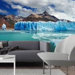 Mural glaciares de Antártida