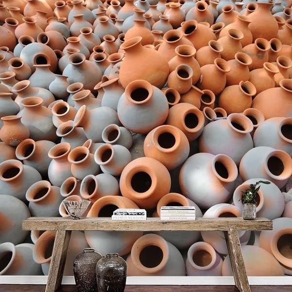Vinil de parede jarros de barro