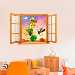 Vinil falsa janela Sininho Disney