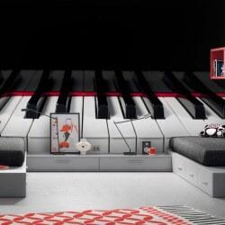 Papel pintado teclas de piano