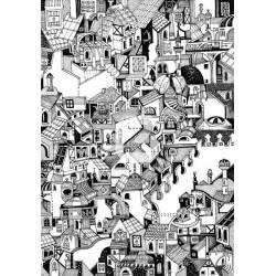 Mural desenho de casas