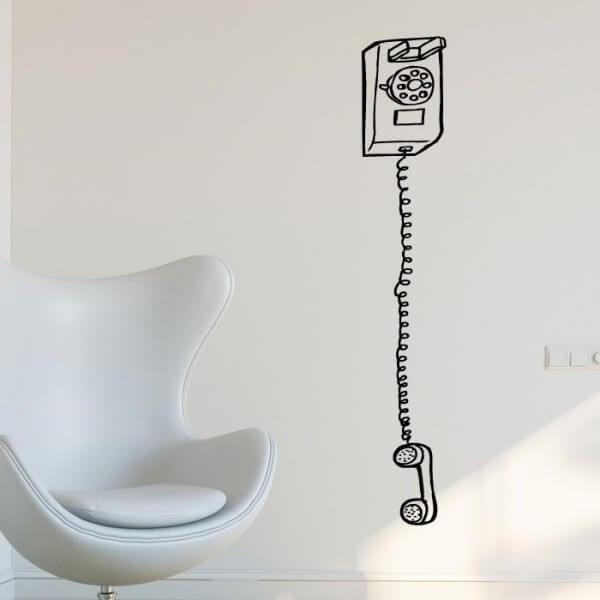 Autocolante decorativo telefone