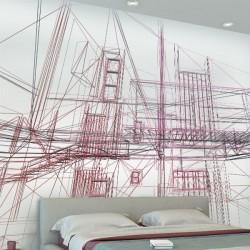 Papel de parede linhas de...