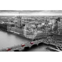 Mural Londres branco e preto