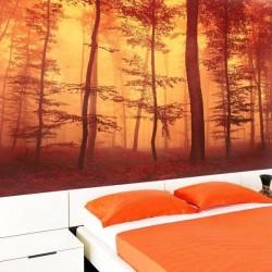 Mural bosque vermelho
