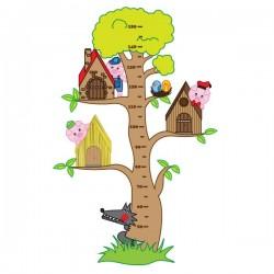 Vinil infantil árvore 3 porquinhos