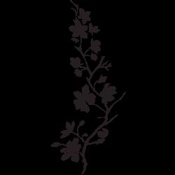 Autocolantes Decorativos De Ramos Com Flores Vinil Decorativo E