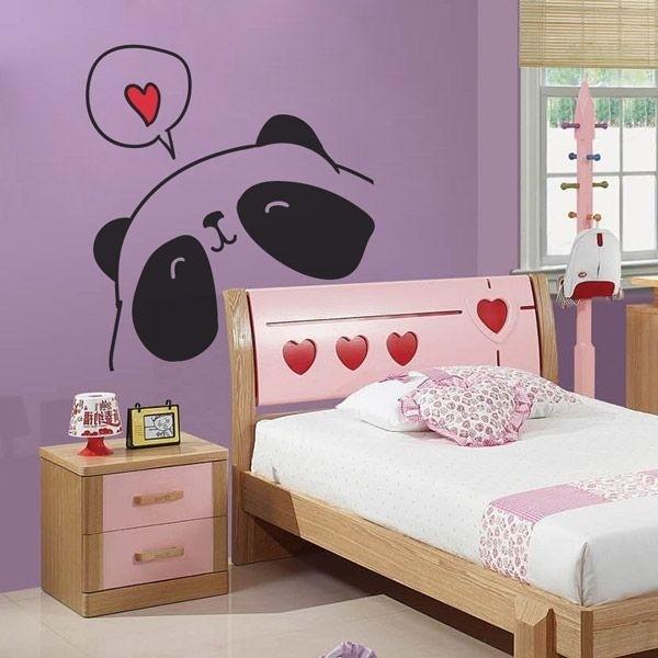 Vinil infantil panda apaixonado
