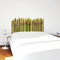 Autocolante cabeceira bambú