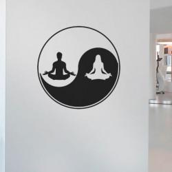 Adesivo Yin Yang Homem e mulher