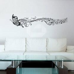 Vinil borboleta e a música