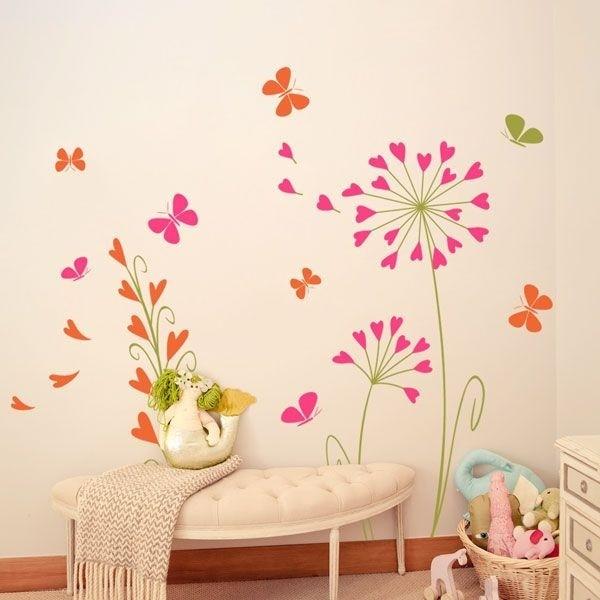 Vinil de borboletas apaixonadas