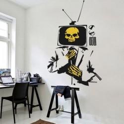 Vinil decorativo homem TV