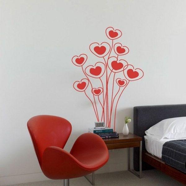 Autocolante flores de corações 1