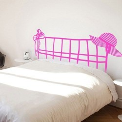 Vinil para camas cabeceira feminina