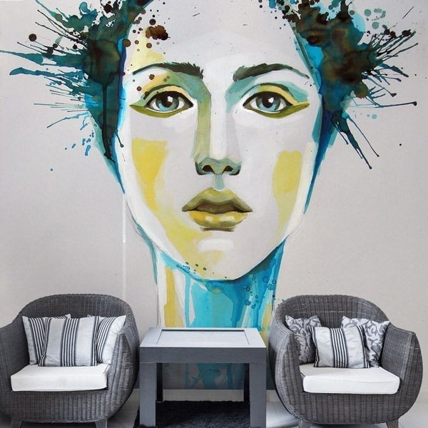 Mural de parede watercolors