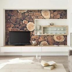 Foto mural parede de madeira