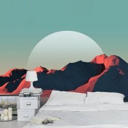 Mural de parede montanhas 3D