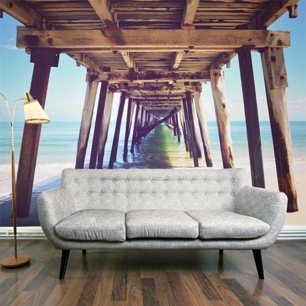 Vinil de parede ponte da praia