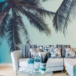 Mural decorativo palmeiras