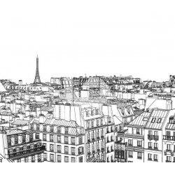 Foto mural desenho de Paris
