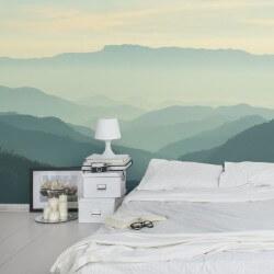Mural montanhas nebulosas