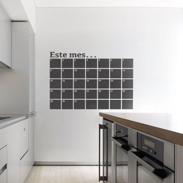 Vinil lousa calendário do mês