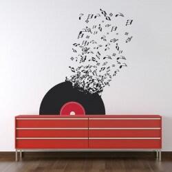 Vinil notas de música