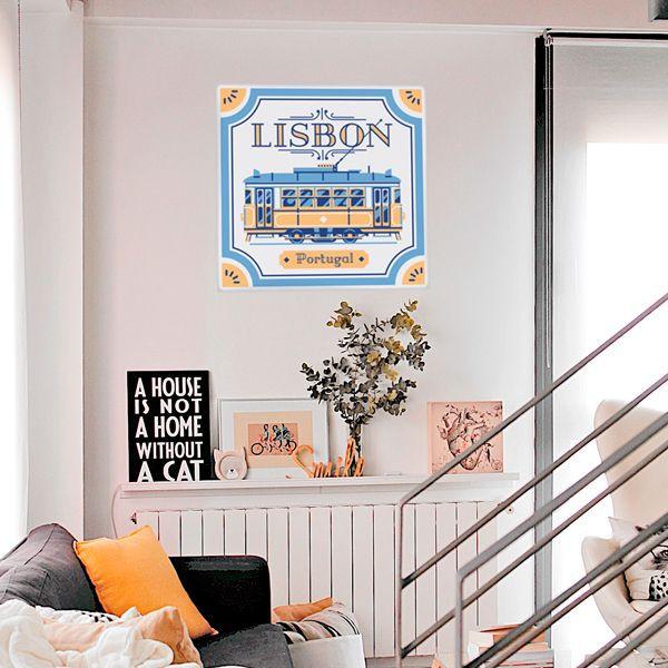 Autocolante azulejo de lisboa