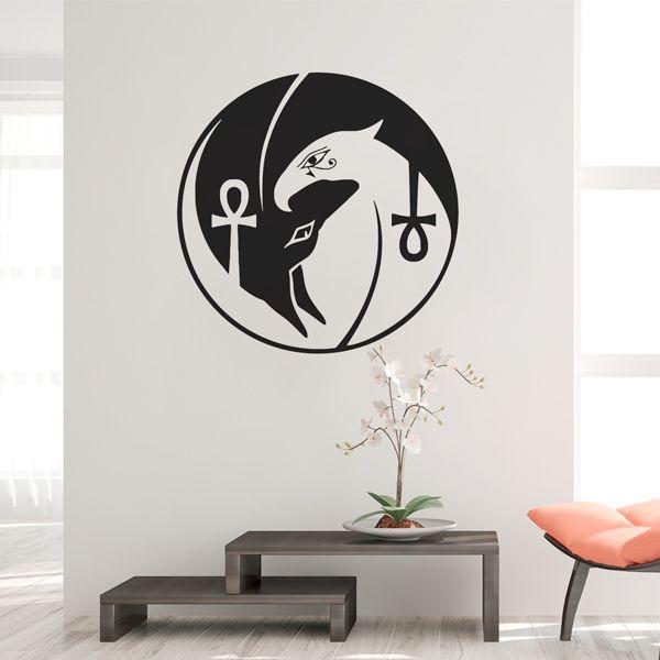 Vinil yin yang Anubis e Horus