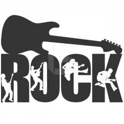 Vinil decorativo guitarra rock